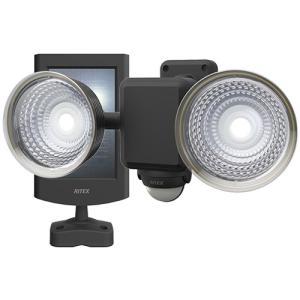 センサー 防犯アラーム セーフティ 防犯 ムサシ RITEX フリーアーム式LEDセンサーライト(1.3W×2灯) 「ソーラー式」 防雨型 S-25L hihshop