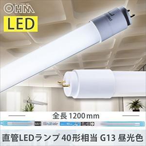 LED蛍光灯 LED電球 電球 照明 LED蛍光灯 直管LEDランプ 40形相当 G13 昼光色 片側給電仕様 グロースタータ式 専用スタータ付 LDF40SS・D/18/23-U 1 06-1818|hihshop