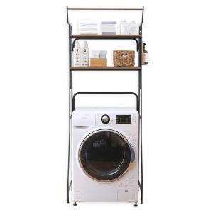 アイリスオーヤマ ランドリーラック ハンガーバー付き 可動棚 幅約70cm(幅61cmまでの洗濯機に...