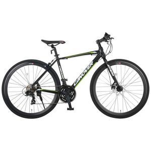 自転車本体 カノーバー クロスバイク 700C シマノ21段変速 CAC-027-DC ATENA フロントディスクブレーキ アルミフレーム フロントLEDライト付 [メーカー保証1年]|hihshop