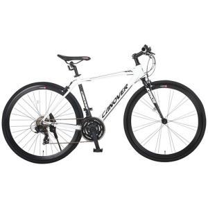 自転車本体 カノーバー クロスバイク 700C シマノ21段変速 CAC-028(KRNOS) アルミフレーム フロントLEDライト付 [メーカー保証1年]|hihshop