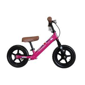 幼児用ペダル無し車両 三輪車 子ども用自転車 マタニティ JEFFERYS (ジェフリース) London Taxi キックバイク 12型 足こぎ自転車 ピンク|hihshop
