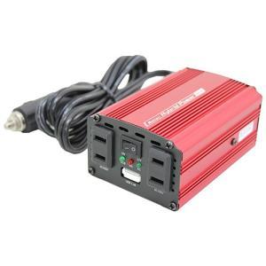 メルテック インバーター 2way(USB&コンセント) DC24V コンセント2口120W USB...