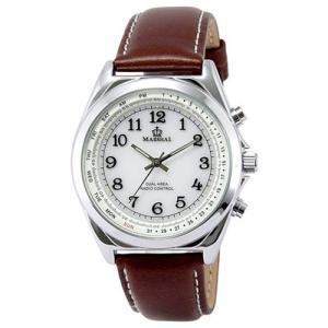 腕時計 メンズ腕時計 アクセサリー ファッション サン・フレイム アナログ電波腕時計 電池寿命約10年 MR70-BR|hihshop