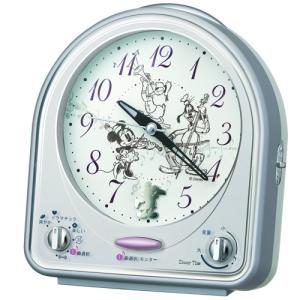 SEIKO CLOCK(セイコークロック)Disneyメロディ目覚まし時計(銀色)FD464S|hihshop