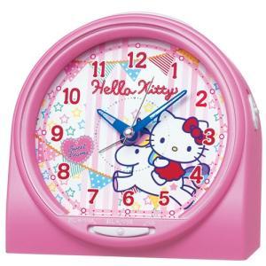 SEIKO CLOCK(セイコークロック)ハローキティ おしゃべり目ざまし時計アラーム音切替タイプ(ピンクパール塗装)CQ134P|hihshop