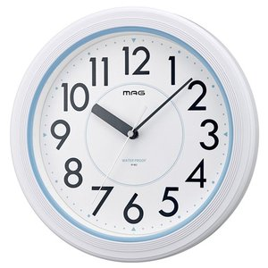 MAG(マグ)壁掛け時計 アクアガード アナログ表示 IPX7防水仕様 ホワイト W-662WH-Z|hihshop
