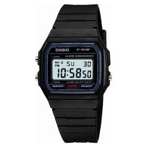 腕時計 メンズ腕時計 アクセサリー ファッション  カシオ Casio スタンダードデジタルウォッチ 日常生活防水 LEDライトつき F-91W-1JF メンズ|hihshop
