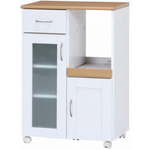 キッチンカウンター キッチン収納 インテリア 家具 食器棚 不二貿易 キッチンカウンター サージュ 幅60cm ホワイト ナチュラル 96818 hihshop