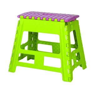 東谷 AZUMAYA スツール 椅子 チェア オリタタミ式 クラスタースツールワイドL グリーン色 ...