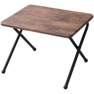 テーブル  山善(YAMAZEN) テーブル ミニ 完成品 折りたたみ式 サイドテーブル 幅50×奥行44×高さ35cm ロータイプ アンティークブラウン YST-5040L(ABR/SBK) hihshop