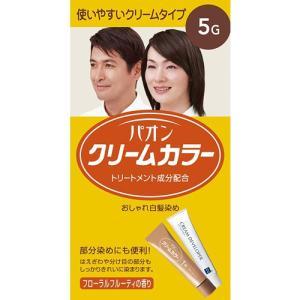 白髪染め ヘアカラー メンズヘアケア ヘアケア パオン クリームカラー 5G 深みのある栗色 40g+40g|hihshop