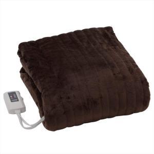 YAMAZEN ふわふわもこもこ電気毛布 掛敷タイプ YMK-F43P-T 130×188cm|hihshop