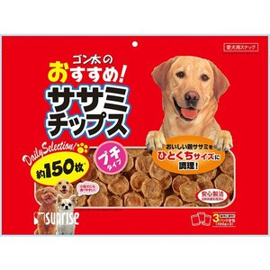 ガム おやつ ドッグフード ペットフード ゴン太 ゴン太のおすすめササミチップス 150枚|hihshop