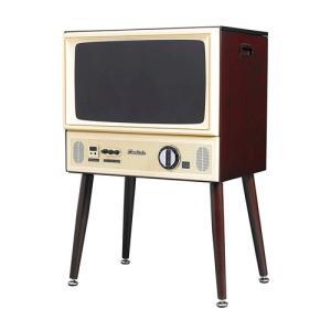 ポータブルテレビ テレビ 映像機器 カメラ DOSHISHA 20V型 ヴィンテージデザイン ハイビジョン液晶テレビ 外付けHDD対応 VT203-BR|hihshop