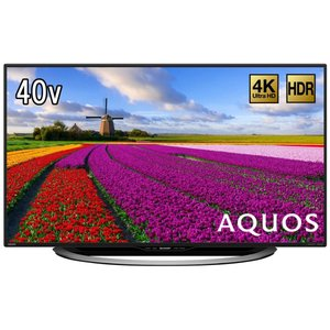 シャープ 40V型 液晶 テレビ AQUOS LC-40U45 4K HDR対応 低反射パネル搭載|hihshop