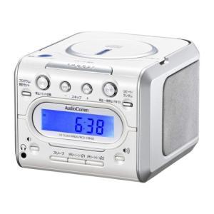 CDラジカセ ラジカセ オーディオ機器 オーディオ Audio Comm CDクロックラジオ 008 RCD-C008Z|hihshop