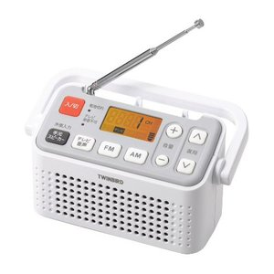 ラジオ ラジカセ ミニコンポ オーディオ機器 TWINBIRD 手元スピーカー機能付3バンドラジオ ホワイト AV-J125W|hihshop