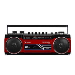ラジオ ラジカセ ミニコンポ カメラ SANSUI Bluetooth搭載ラジカセ【USB/SDカードMP3再生対応】 SCR-B2【RD】|hihshop