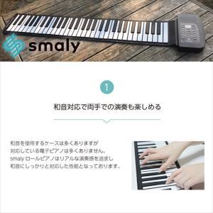 スマリー(SMALY) 電子ピアノ ロールアップピアノ 61鍵盤 持ち運び (スピーカー内蔵) SMALY-PIANO-61 hihshop 05