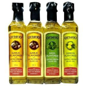 オリーブオイル 料理の素 調味料 OTTAVIO FLAVORED EXTRA VIRGIN OLIVE OIL 232g× 4本セット|hihshop