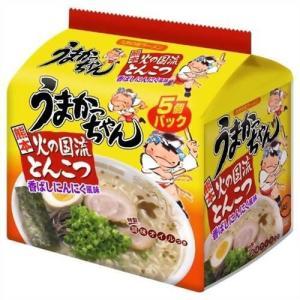 インスタントラーメン ラーメン 麺類 豚骨ラーメン うまかっちゃん 熊本 火の国流とんこつ 香ばしにんにく風味 5個パック|hihshop