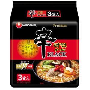 農心 辛ラーメンブラック 袋 3食P hihshop
