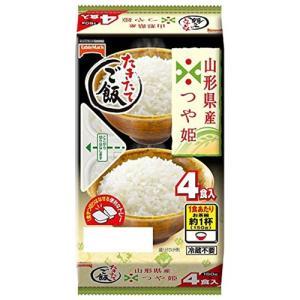 包装米飯 レトルトご飯 ごはん 米 インスタント食品 ライス テーブルマーク たきたてご飯山形県産つや姫分割 4食 1食150g|hihshop
