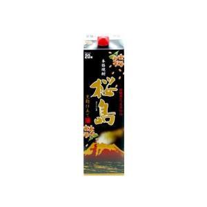 芋焼酎 焼酎 お酒 水 黒桜島 パック 20度1800ml 1本|hihshop