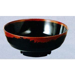 メラミン食器 長次郎窯 丼(内黒)AN72B|hikari-chyubo