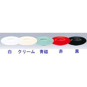 メラミン食器 ラーメン丼受皿(スープ皿9吋)No.50【カラー:赤】|hikari-chyubo