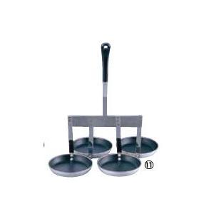フッ素加工 4連式 カキ揚レードル 品番:3-0280-1101|hikari-chyubo