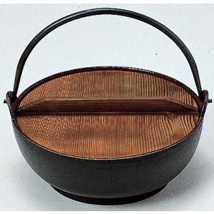 サンワ IH対応 電磁用 みやま鍋(鉄製内面ホーロー仕上げ)30cm|hikari-chyubo