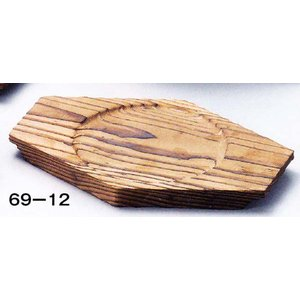 ビビンバФ17用焼杉敷板 品番:69-12 注意:Ф14cm皿彫 hikari-chyubo