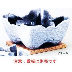 岩丸コンロ(黒釉)大 品番:71-4 注意:敷板は別売です。|hikari-chyubo
