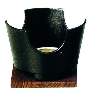 丸コンロセット(黒)中 火皿・敷板付 品番:73-1(13070)|hikari-chyubo
