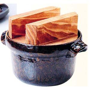 トナミ アルミ製 電磁用(IH対応) 3合ごはん鍋・焼杉蓋付 品番:117-4|hikari-chyubo