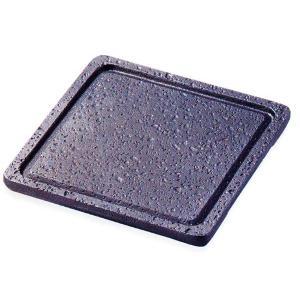 トナミ アルミ製 電磁用(IH対応)遠赤角溶岩陶板21角(ナノ加工フッ素)品番:119-2|hikari-chyubo