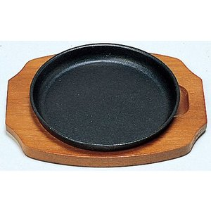 サンワ ステーキ皿 丸型 B 17cm IH対応|hikari-chyubo