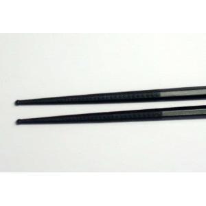 ダブルエンボス箸  PM-326 盛り箸27cm (黒)|hikari-chyubo