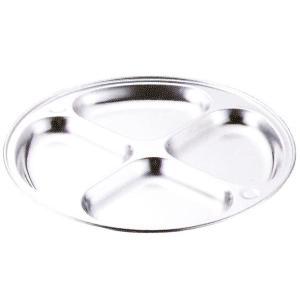 本間製作所 仔犬印 18-8ステンンレス ランチ皿 4ツ切30 板厚:0.6mm hikari-chyubo