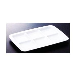 スリーラインメラミン食器 (ビュプレ)ビュプレ6(パールホワイト)270×192×19mm 品番:M-336PW hikari-chyubo