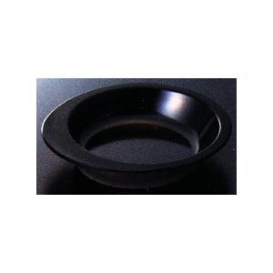 スリーラインメラミン食器 (自助食器)小鉢(黒)156×136×43mm容量:約300cc品番:M-352BK hikari-chyubo
