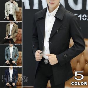 ジャケット ビジネスジャケット メンズ ブルゾン 春物 アウター 薄手 スプリングコート 紳士 通勤 カジュアル 2018 新品