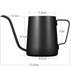 Kslong コーヒーポットコーヒー ケトルステンレス 細口ハンドパンチポットドリップih対応長い口...