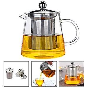 Pluiesoleil ティーポット 耐熱ガラス 450ML茶器? 花茶 紅茶 ポット ?家族用 業...