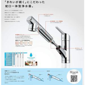 タカギ 浄水器一体型水栓 クローレ JY186MN-9NTF キッチンシャワー水栓