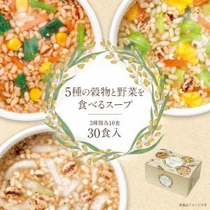 P2倍 5種の穀物と野菜を 食べるスープ 30食 3種の味 グラノーラ インスタント 雑穀 即席 ス...