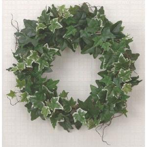 光触媒人工観葉植物 壁掛アイビーリース|hikarinorakuen