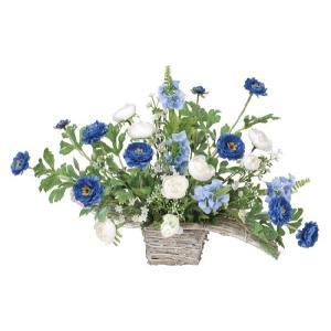 造花アレンジフラワー ワイドブルー|hikarinorakuen